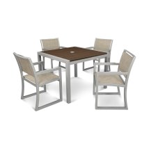 Trex Outdoor Furniture Parsons 5-piece Satin Silver