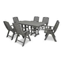 Trex Outdoor Furniture Yacht Club 7-piece Gray Plastic
