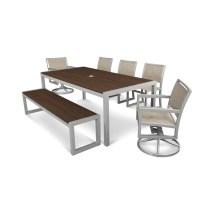 Trex Outdoor Furniture Parsons 7-piece Satin Silver