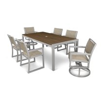 Trex Outdoor Furniture Parsons 7-piece Satin Silver