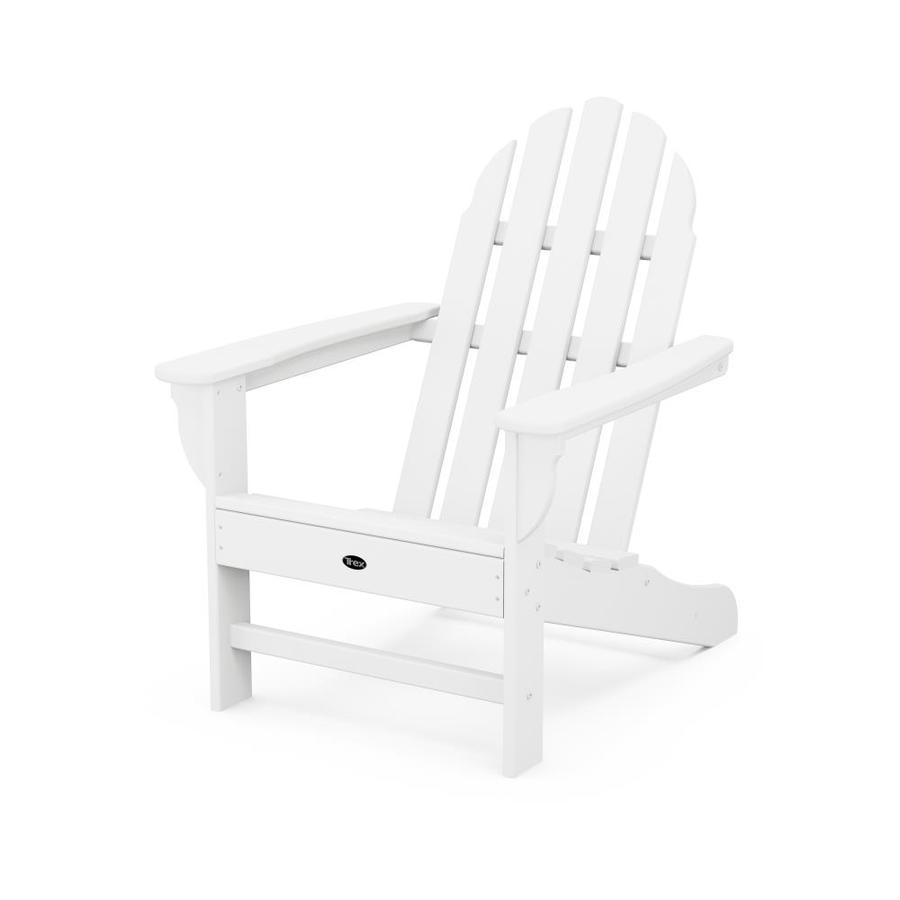 trex adirondack rocking chairs kitchen chair slipcovers outdoor furniture plastic with slat