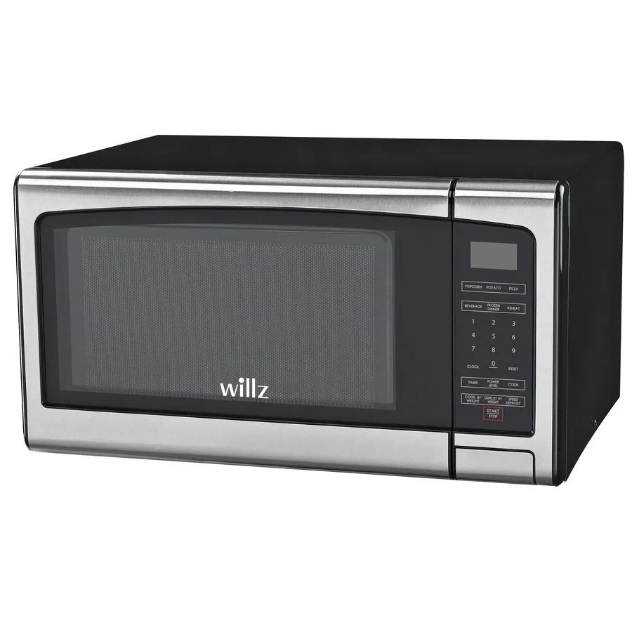 willz countertop microwave 1 1 cu ft 1000 watt countertop microwave stainless steel