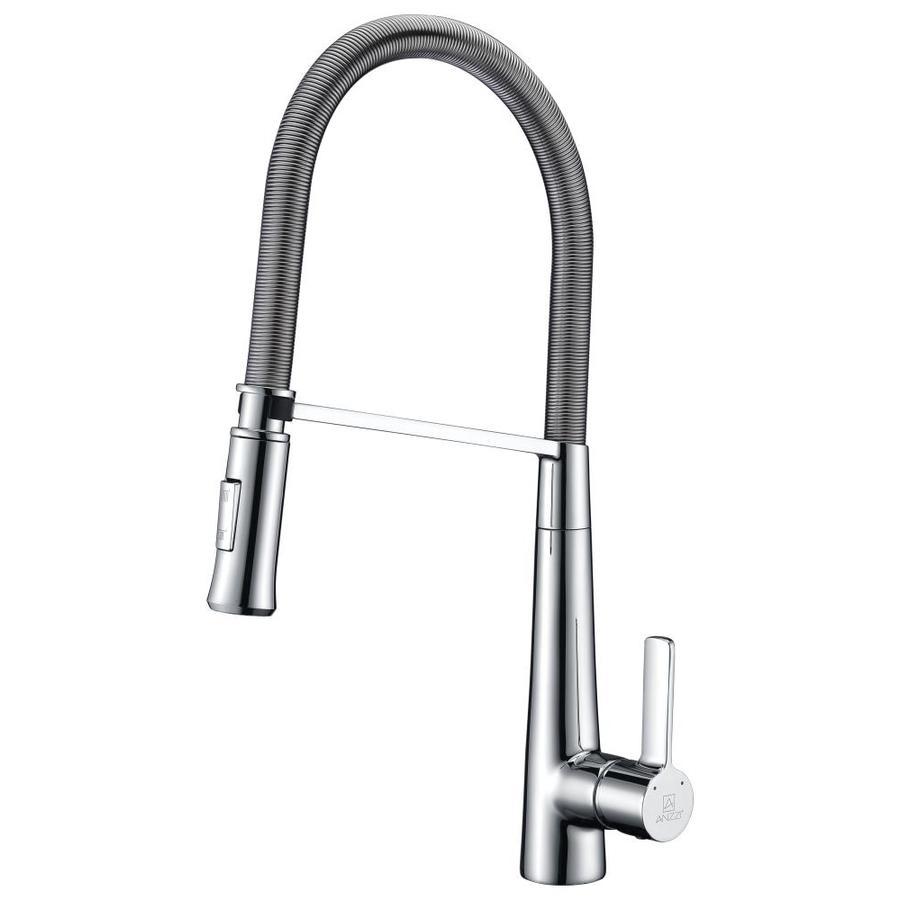 ANZZI Apollo Polished Chrome 1-Handle Pull-down Kitchen