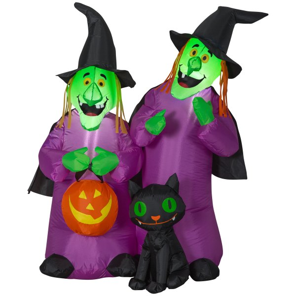 Holiday Living 4-ft X 3.71-ft Lighted Witch Halloween