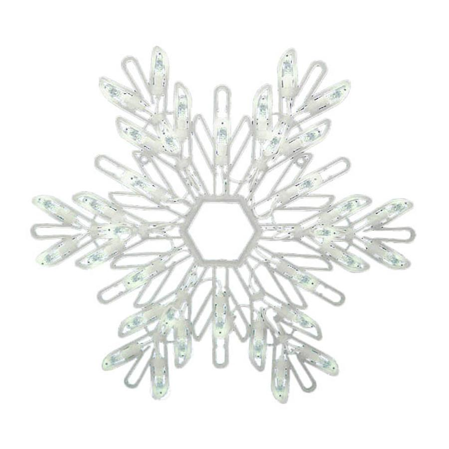 Northlight 14-in Hanging Snowflake Snowflake with White