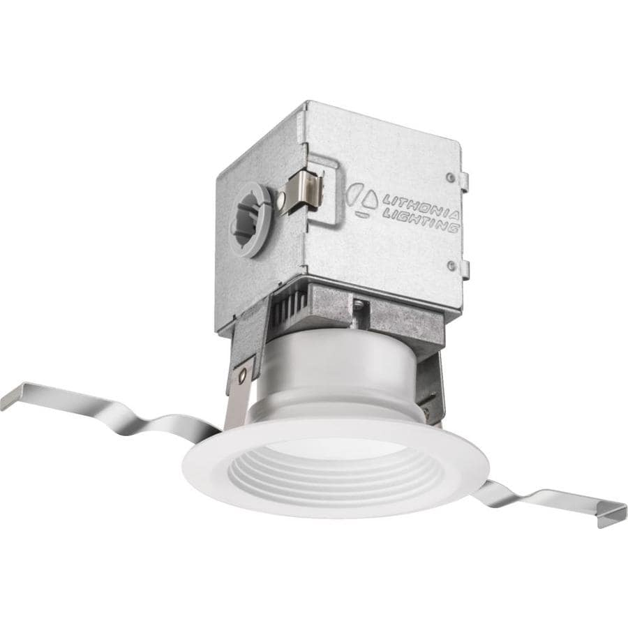lithonia lighting oneup 3 in 50 watt equivalent white round dimmable recessed downlight