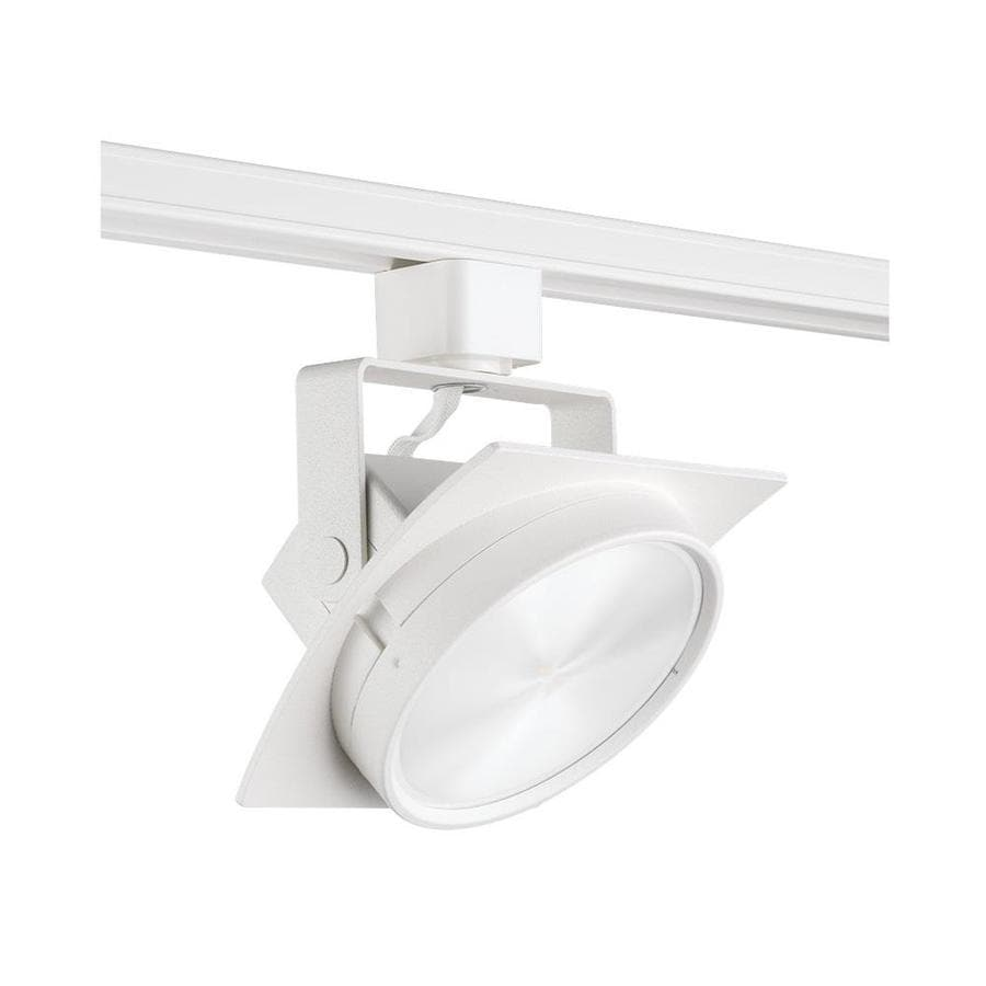 juno trac master 1 light dimmable white gimbal head s track lighting head in the track lighting heads department at lowes com
