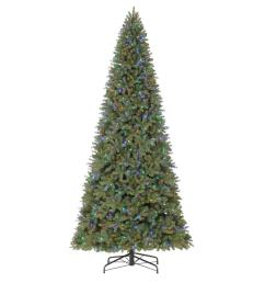 holiday living 12 ft pre lit douglas fir artificial christmas tree with 1200 multi function color changing led lights [ 900 x 900 Pixel ]