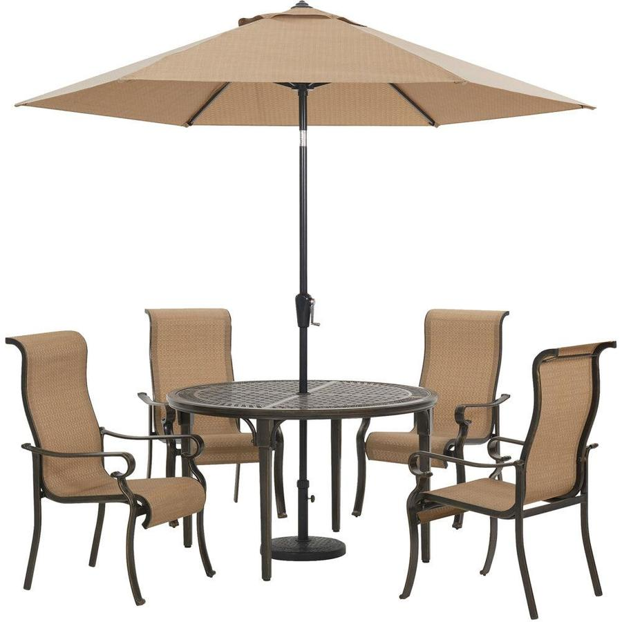 tan hanover in the patio dining sets
