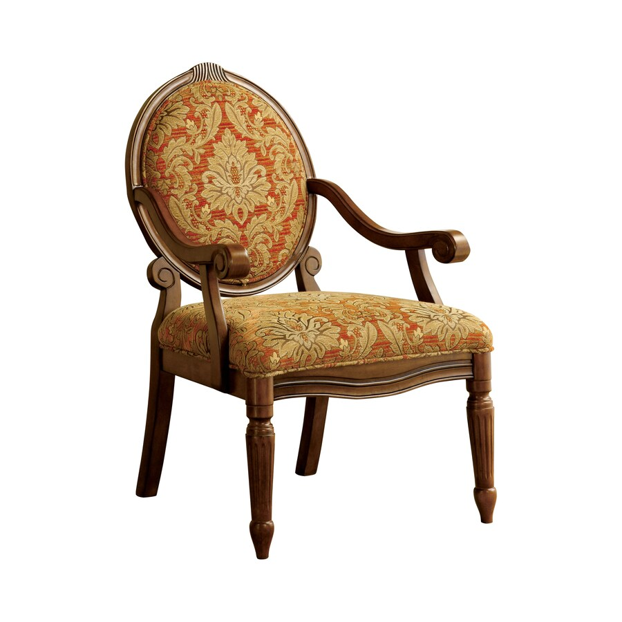 Antique Accent Chairs Furniture Of America Hammond Victorian Antique Oak Linen Accent