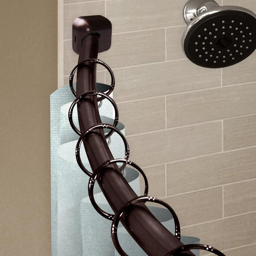 hart harlow 1 in shower 42 in to 72 in bronze steel curved curtain rod