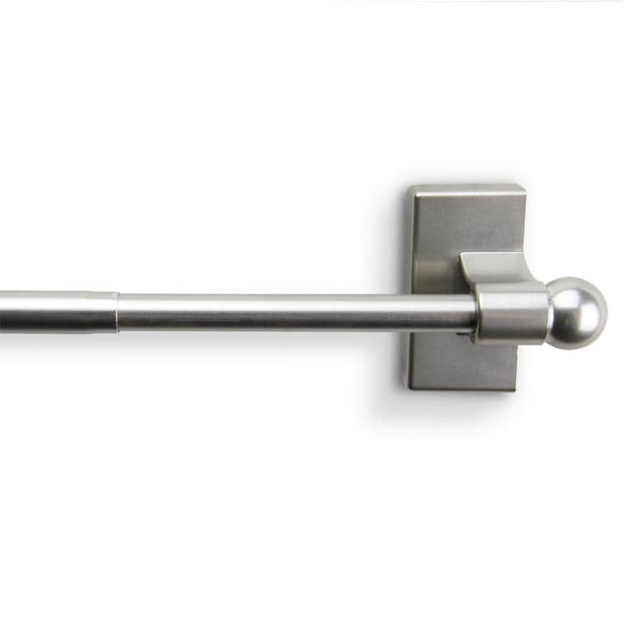 7 16 in magnetic curtain rods at lowes com