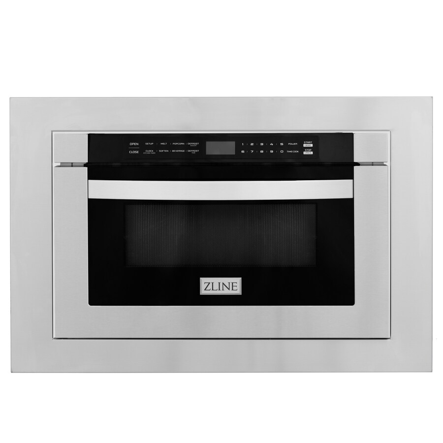 https www lowes com pd zline kitchen bath zline 24 1 2 cu ft stainless steel microwave drawer with 30 trim kit 5001933763