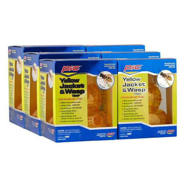 Pic 6-count Yellow Jacket & Wasp Trap