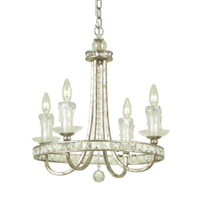 Candice Olson By Af Lighting Aristocrat 4 Light Soft Gold Crystal Accent Or Plug