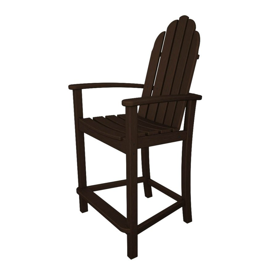 adirondack chairs at lowes chair ab workout polywood classic mahogany plastic patio