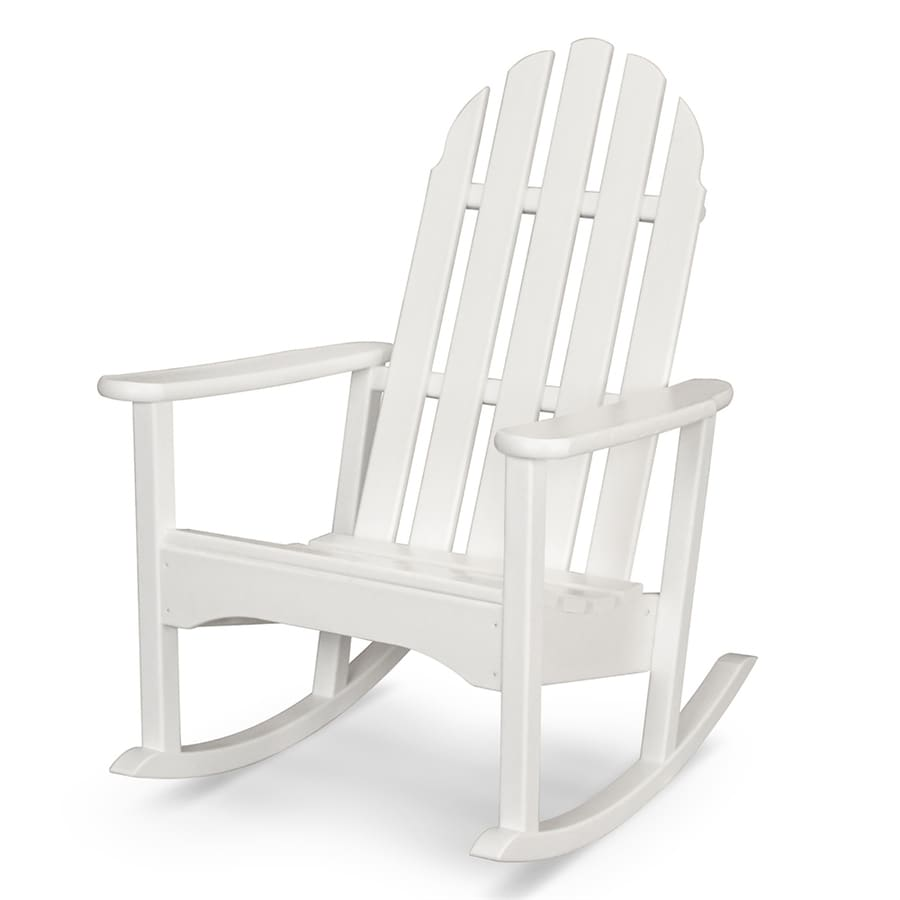 adirondack chairs at lowes jcpenney dining room chair cushions shop polywood classic plastic rocking with slat seat lowes.com