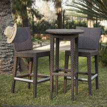 Hospitality Rattan Soho 3-piece Brown Wood Frame Wicker