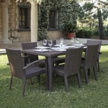 7 Piece Outdoor Wicker Patio Dining Sets