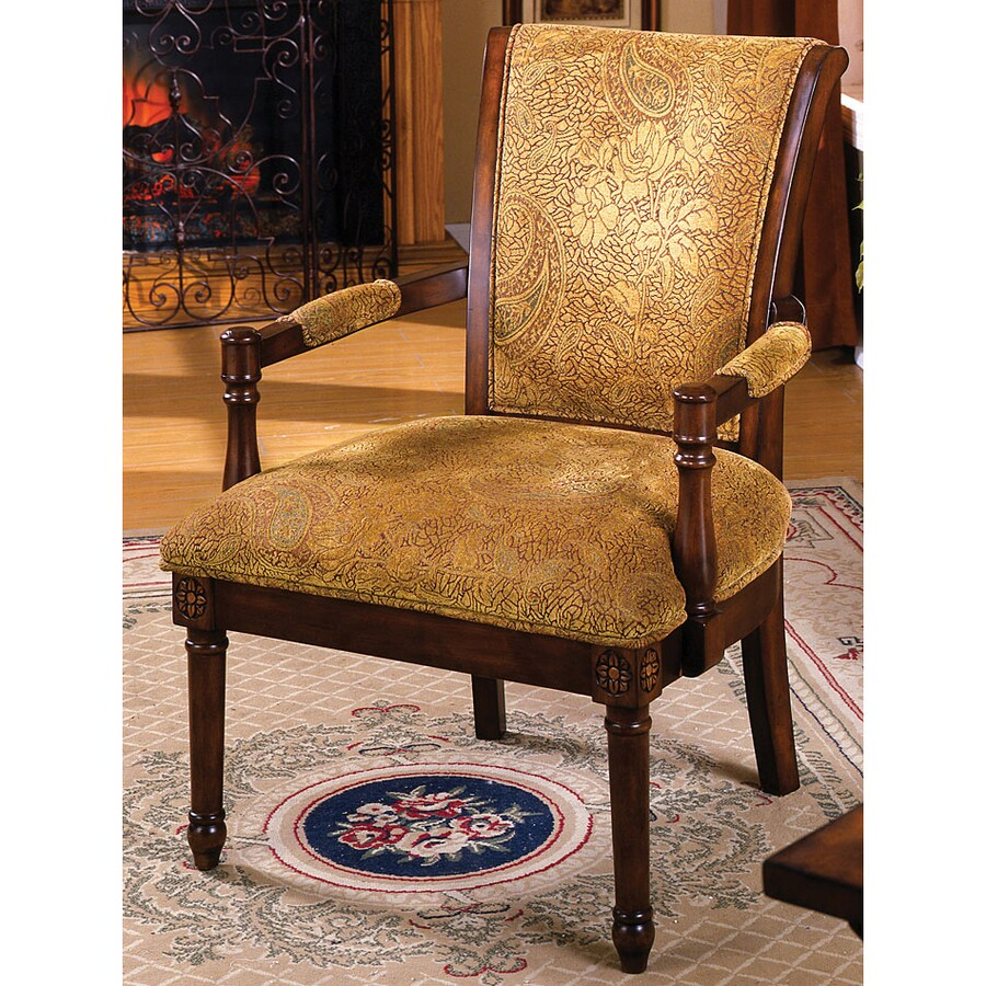 Vintage Accent Chair Furniture Of America Stockton Vintage Antique Oak Accent Chair At