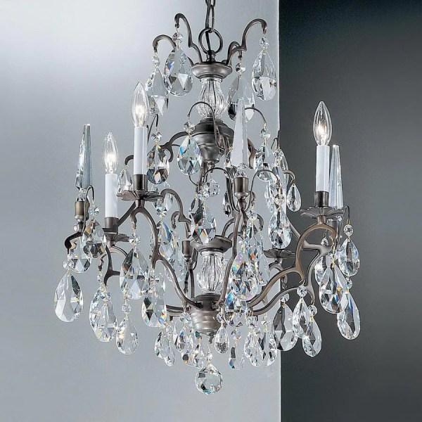 Classic Lighting Versailles 4-light Antique Bronze Crystal