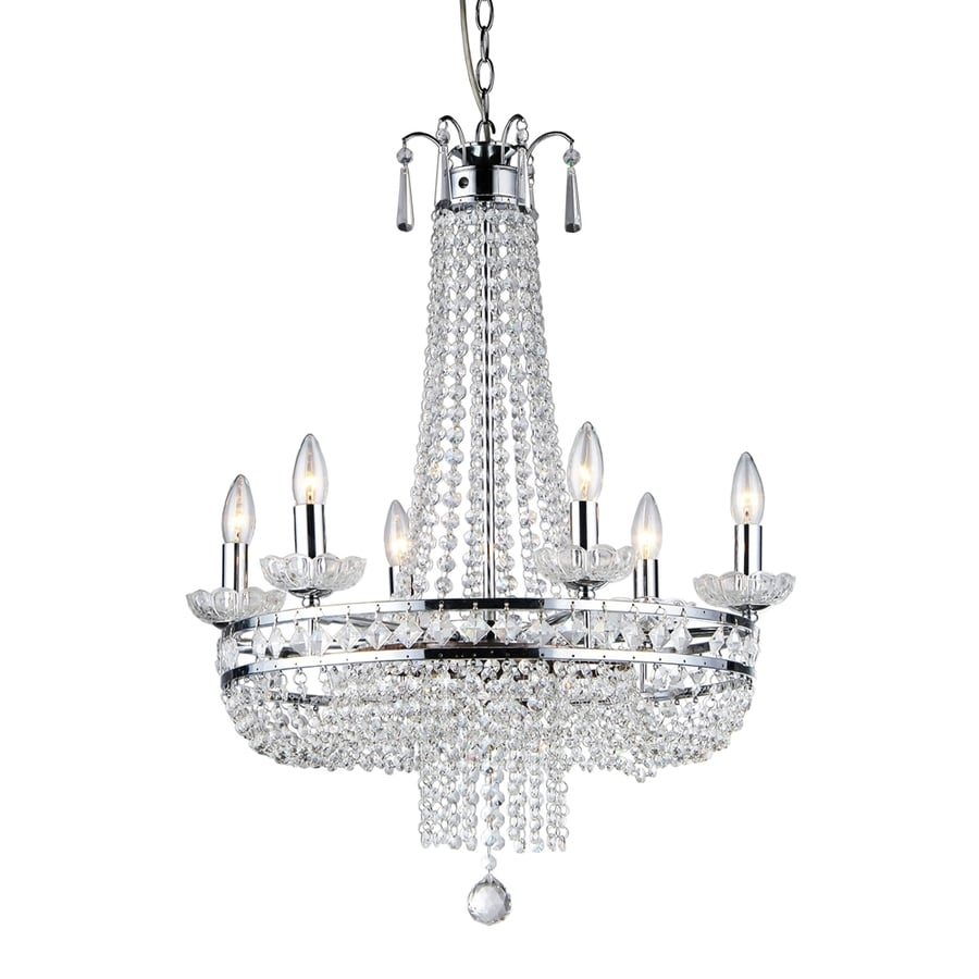 Shop Warehouse of Tiffany 7-Light Chrome Crystal Empire