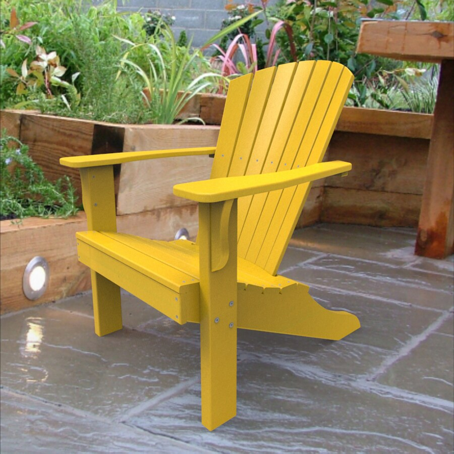 yellow adirondack chairs plastic baby high chair attach to table malibu outdoor living recycled at