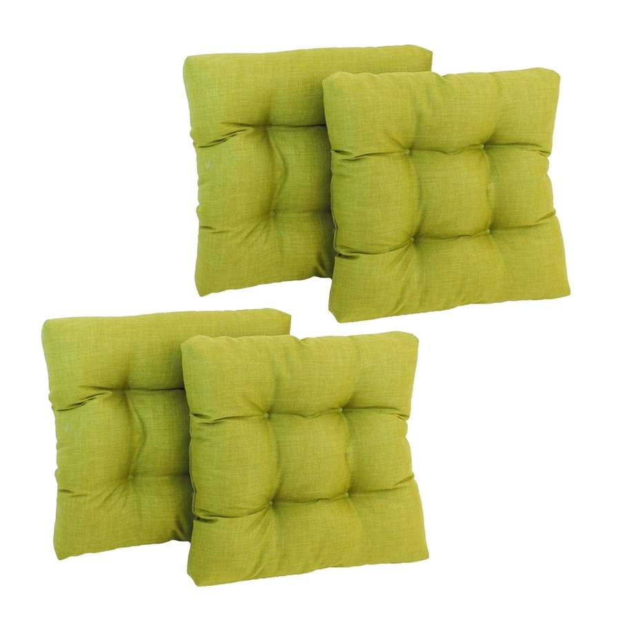 lime green chair pads skruvsta swivel blazing needles dacron 4 piece patio cushions at lowes com
