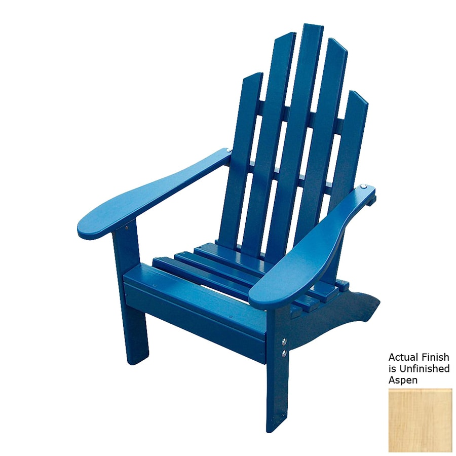 unfinished adirondack chair folding directors with side table prairie leisure design aspen pine patio