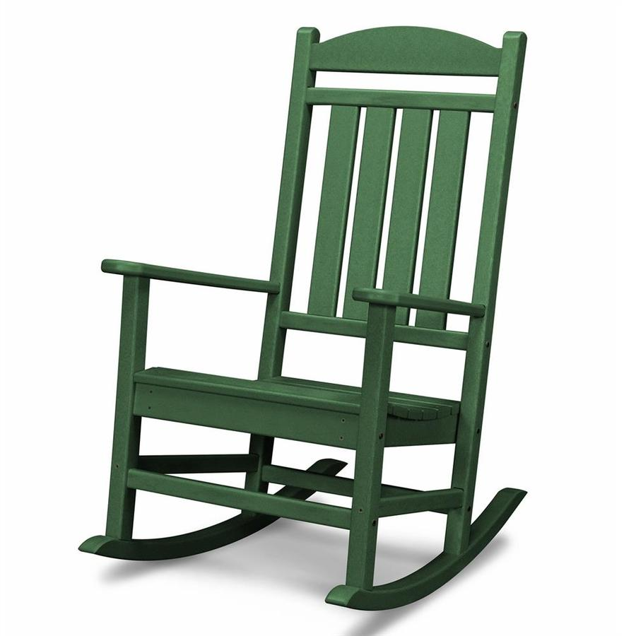Shop POLYWOOD Presidential Green Plastic Patio Rocking Chair at Lowescom