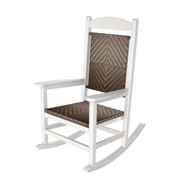 White Plastic Outdoor Rocking Chairs