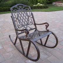 Oakland Living Mississippi Aluminum Rocking Chair With