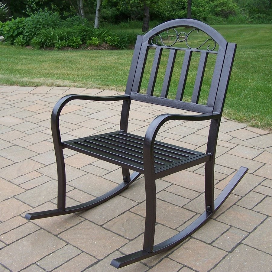 Shop Oakland Living Rochester Hammer Tone Bronze Iron Patio Rocking Chair at Lowescom