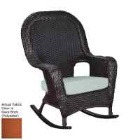 Shop Tortuga Outdoor Lexington Wicker Rocking Chair with ...