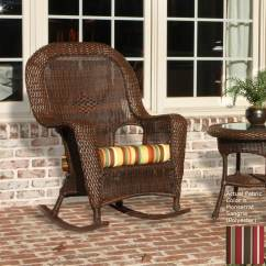 Rocking Chair Cushion Target Plastic Chairs Shop Tortuga Outdoor Lexington Tortoise Wicker Patio At Lowes.com