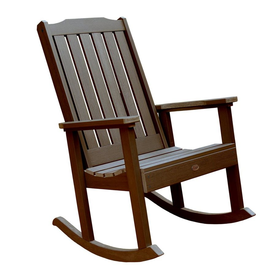 Lowes Outdoor Rocking Chair Highwood Lehigh Plastic Rocking Chair With Slat At Lowes