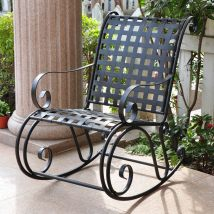 International Caravan Antique Black Steel Patio