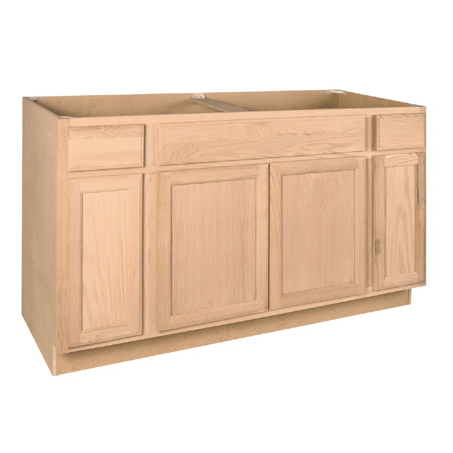 60 inch kitchen sink base cabinet wholesale shop project source 60-in w x 34.5-in h 24-in d ...