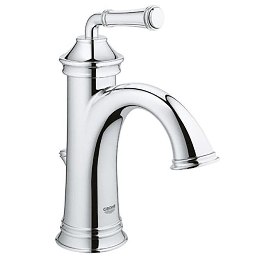 grohe gloucester chrome 1 handle 4 in centerset watersense bathroom sink faucet with drain