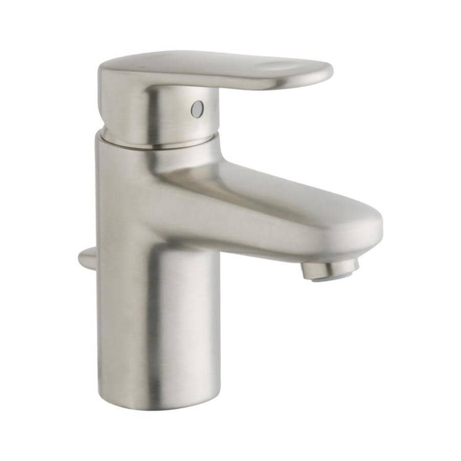 grohe kitchen faucets lowes cabinet installers shop europlus brushed nickel 1-handle single hole ...