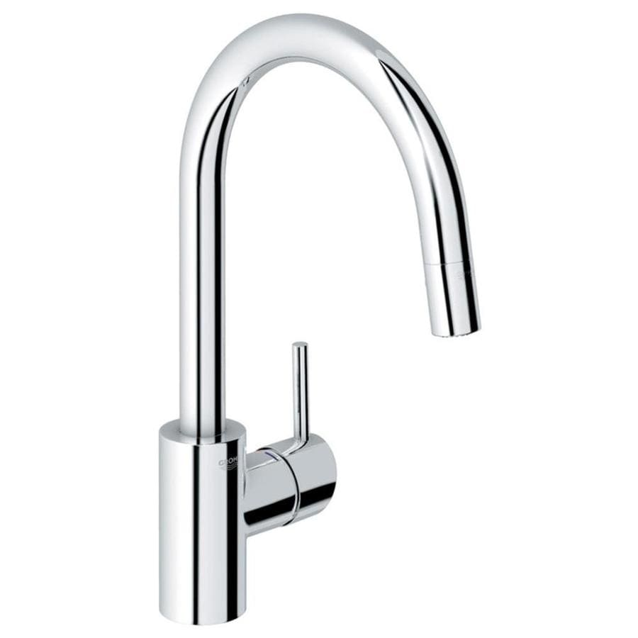 grohe concetto kitchen faucet american standard repair starlight chrome 1 handle deck mount pull down
