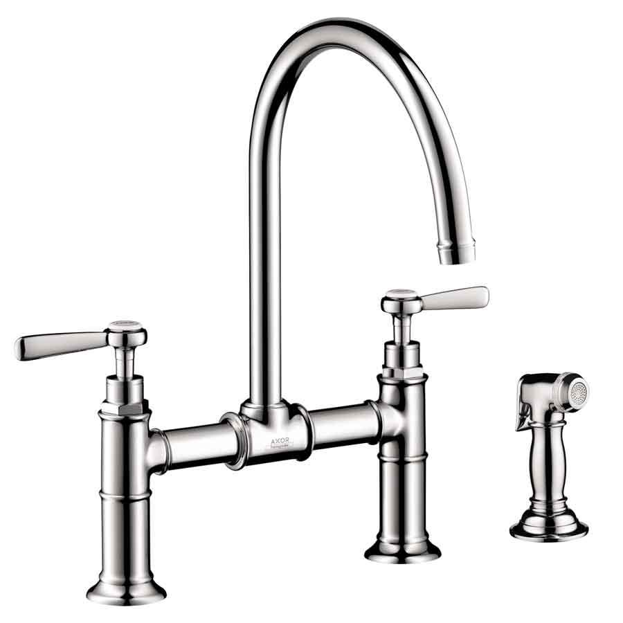 hansgrohe kitchen faucet stuff for sale axor chrome high arc with side spray