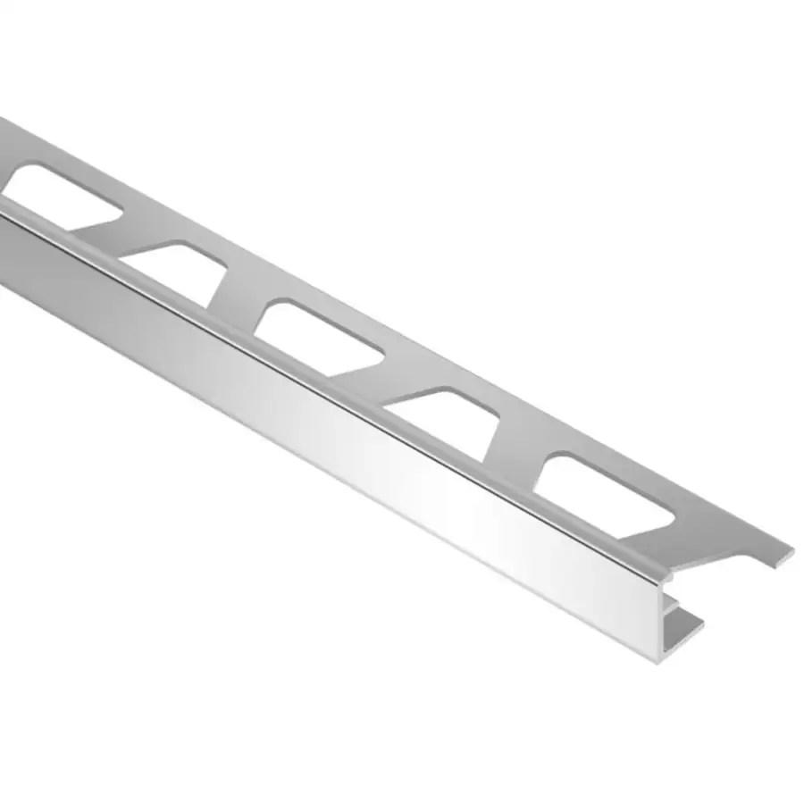 schluter systems schiene 0 313 in w x 98 5 in l aluminum l angle tile edge trim