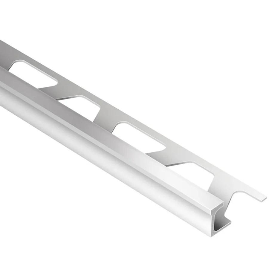 schluter systems deco 0 313 in w x 98 5 in l satin anodized aluminum border tile edge trim