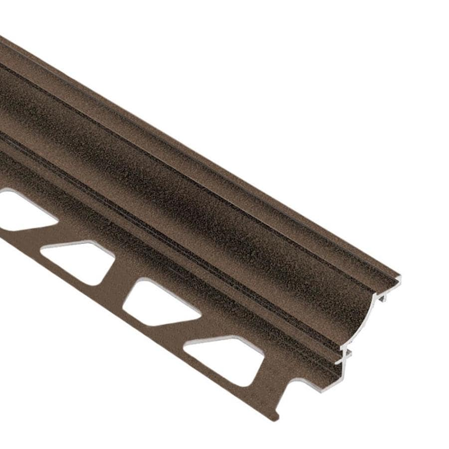 schluter systems dilex ahk 0 563 in w x 98 5 in l bronze textured color coated aluminum cove base tile edge trim