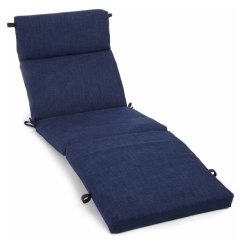Lowes Outdoor Chair Cushions Yellow Fabric Rocking Blazing Needles Dacron 1 Piece Azul Patio Chaise Lounge Cushion