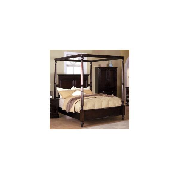 Shop Furniture of America Austria Espresso King Canopy Bed ...
