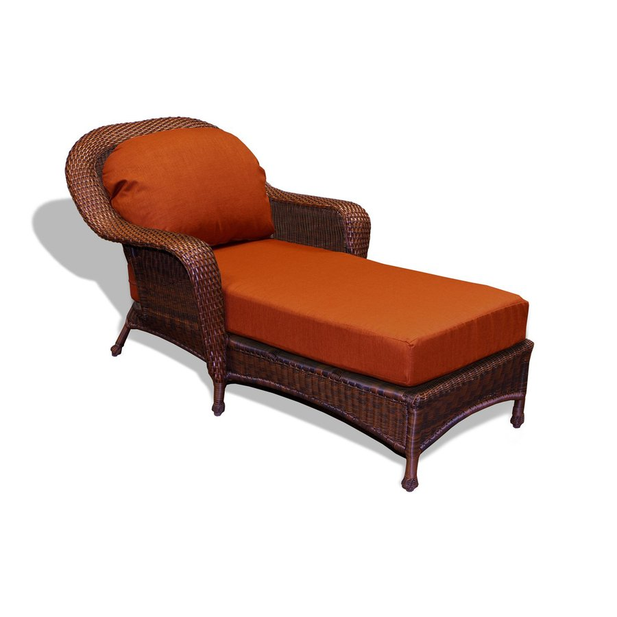 outdoor chaise lounge chair with ottoman purple banquet covers tortuga lexington wicker aluminum rave brick cushion