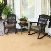 Tortuga Outdoor Portside 3-piece Wicker Frame Patio
