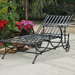 Iron Chaise Lounge Chairs Lift Chair Recliners Columbus Ohio International Caravan Wrought With Slat Seat